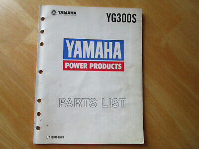 Yamaha Yg300s Generator Parts List Manual Lit-19019-yg-01