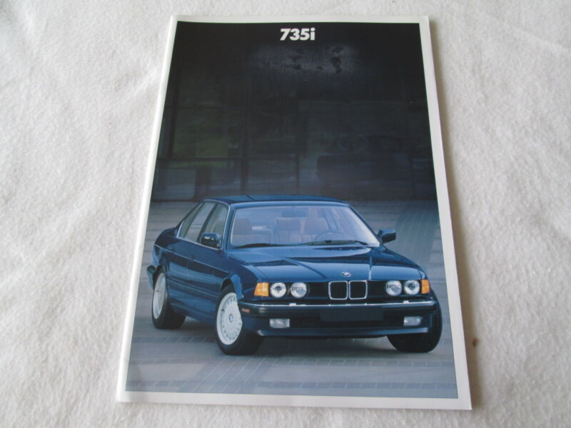 1988 BMW 7 Series E32 Brochure 1st Year 735i Sales Catalog 735 US Selling Book