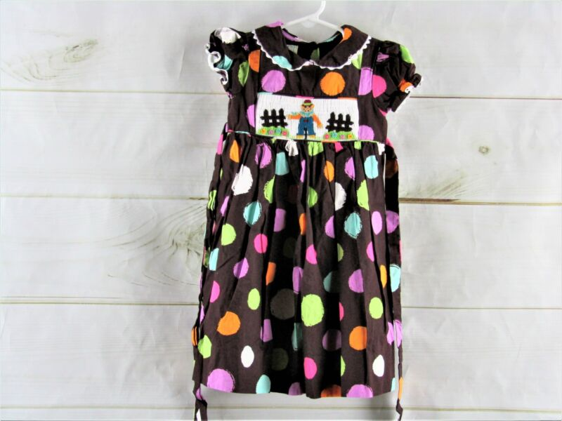 Marmellata Brown Polka Dot Smocked Dress Size 2t
