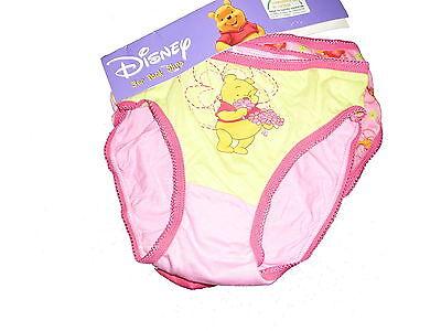 NEU Disney 3 Unterhosen Gr. 116 rosa-grün mit Winnie Pooh Motiven !!