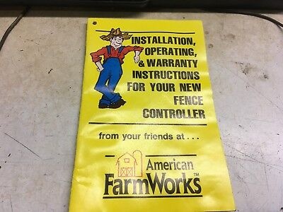 American Farm Works Fence Controller Afw Electric Fencer Operators Manual