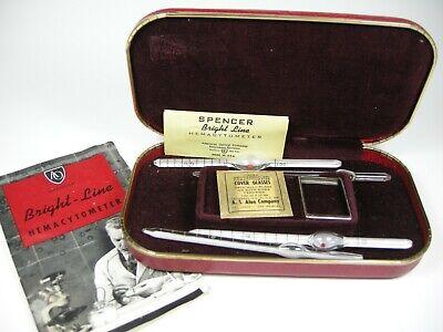 Vintage Ao American Optical Bright Line Spencer Hemacytometer Kit In Case