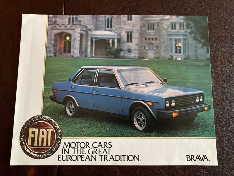 Lancia Brava 6 Piece Set Of Single Sided Brochures Original Excellent Condition