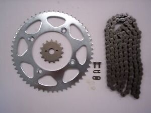 HONDA CR85  CR 85 NEW 15/49 SPROCKET & CHAIN SET 05-08 small wheel stk gearing