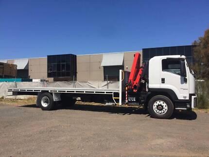 Isuzu FVR-165-300 2017 Truck with Hiab Crane 8M Tray - Guarantee
