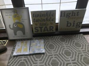 Yellow and Grey gender neutral nursery