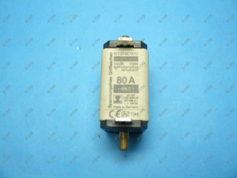 Lindner 17999.080765 NH-00 HRC Centered Tag Fuse Link 80 Amp C00 690V gL/gG