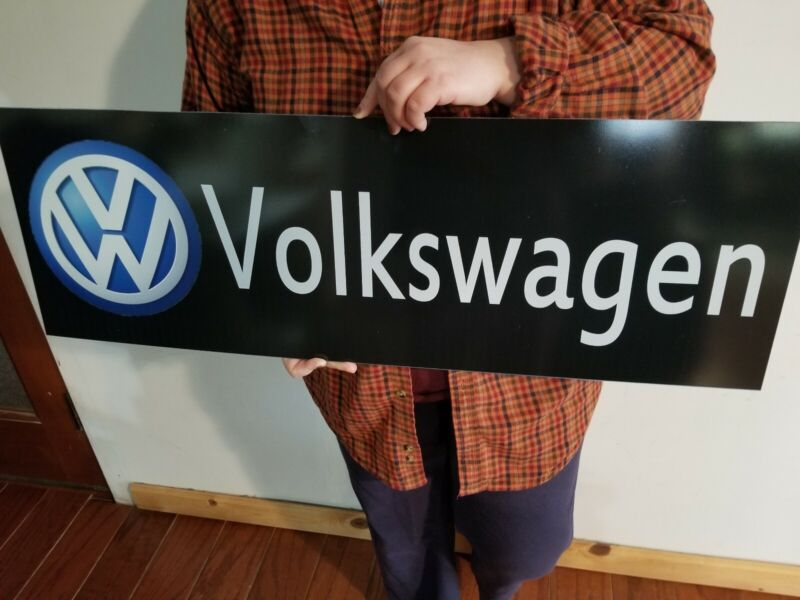 VW Volkswagen sign display mancave or garage