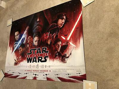STAR WARS THE LAST JEDI 2017 Final Quad Mark Hamill Movie Poster Cinema Poster