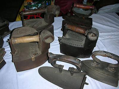 Alte  Bügeleisen, Sammlung 6 alter  Bügeleisen,