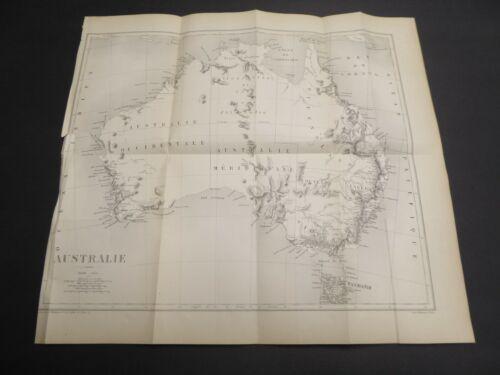 C1880 ? ANTIQUE MAP OF AUSTRALIA AUSTRALIE L. WUHRER FRENCH PARIS NO REFERENCE