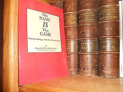 The Name is The Game Onomatology And The Genealogist Genealogy Book