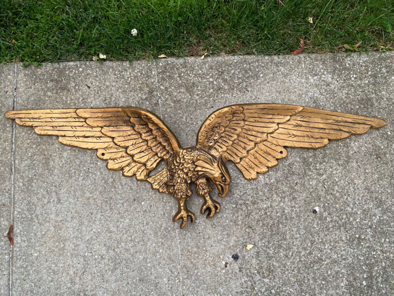 American Eagle Wall Hanging Cast Brass 29.5 ""