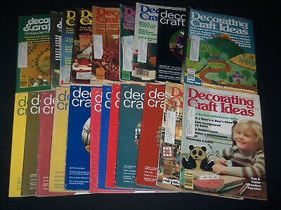 1970S DECORATING CRAFT IDEAS MAGAZINE LOT OF 21 - INCLUDES FIRST ISSUE - PB 1618 - 1970s Decorating Ideas