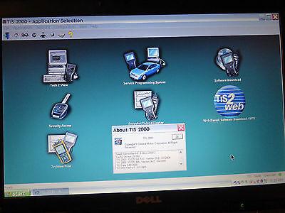 TIS2000 GM Saab Sec Acc Dell D620 2.0 duocore 2.0 ram 80gb hd j2534 for sale  Kalispell