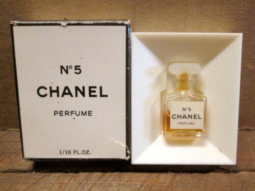 1970s CHANEL No 5 PERFUME Sample Bottle w/ Box & Insert, 1/16 FL OZ Bottle
