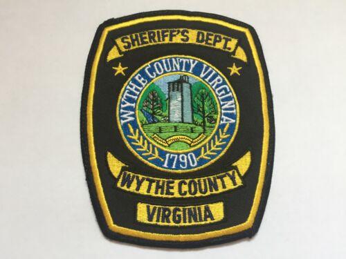 Wythe County VIRGINIA Sheriff Patch