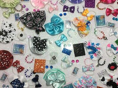 Littlest Pet Shop LPS 6 PC Clothes ACCESSORIES Random Bow Skirt Necklace & More