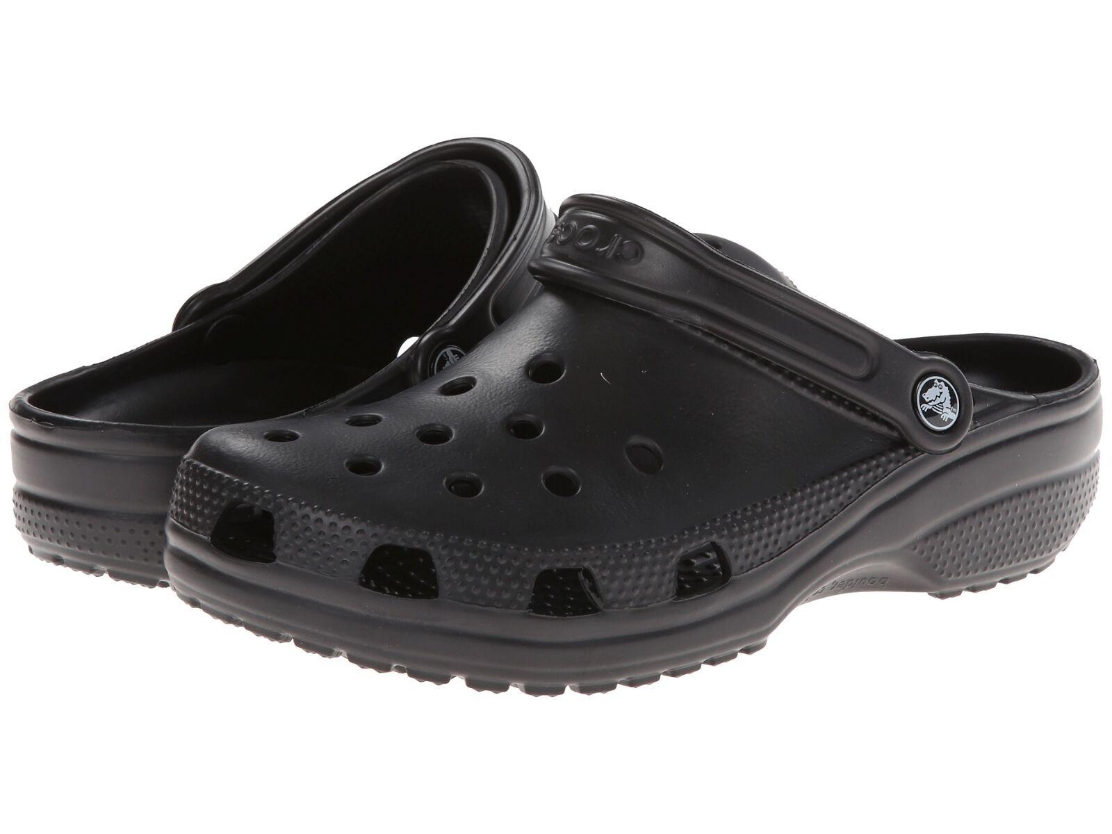 Crocs Men Classic Clogs Black SZ 13 New w Tags Summer Sandals Casual Pool Shoes
