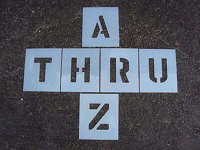 6  Plastic Parking Lot Alphabet Stencils 1 8  Ldpe For Parking Lot Striping