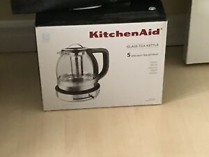 Kitchen aid glass kettle new