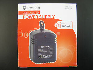 500MA/0.5A 9V AC/AC MAINS POWER ADAPTOR/SUPPLY/CHARGER/TRANSFORMER OUTPUT