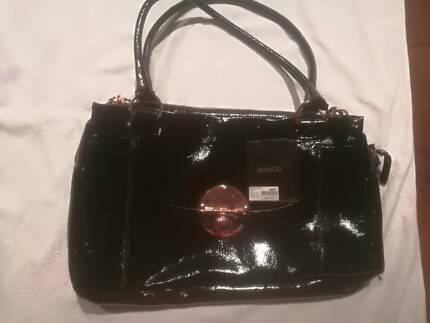 Mimco Turnlock Worker Black Handbag New Unused With Labels