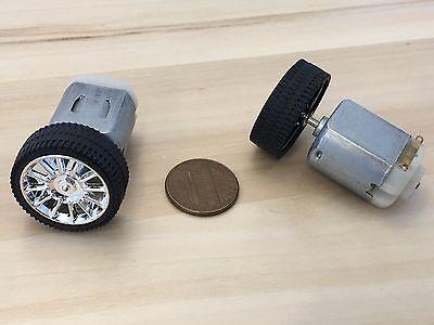 2 Sets 130 Motor 26mm Diameter Rubber Car Robot Tire Wheel Dc Motor C32