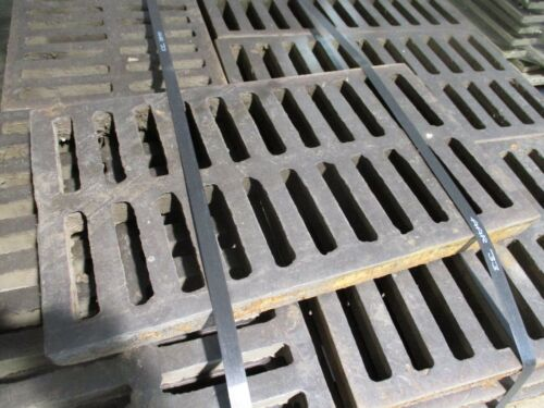 """Misc. Brand Cast Iron Drainage Grate Size: 24""""x14""""x2"""" Used"""