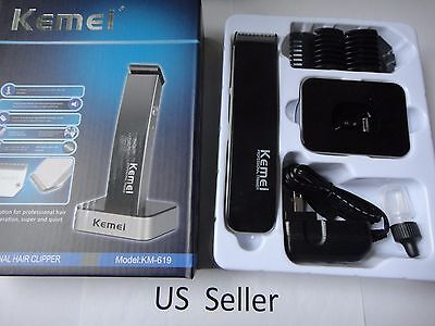 Rechargeable Electric Shaving Machine Razor Beard Hair Clipper Trimmer Black  for sale  Shipping to India