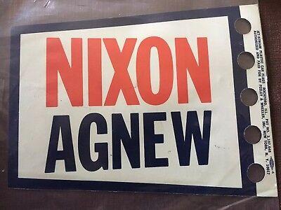 NIXON AGNEW Vintage Campaign JET-STREAM PLASTIC Car Aerial  FLAG PENNANT Unused