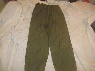 Original M-1951 Shell Field Trousers Unlined NOS Unissued Korean War Long Medium