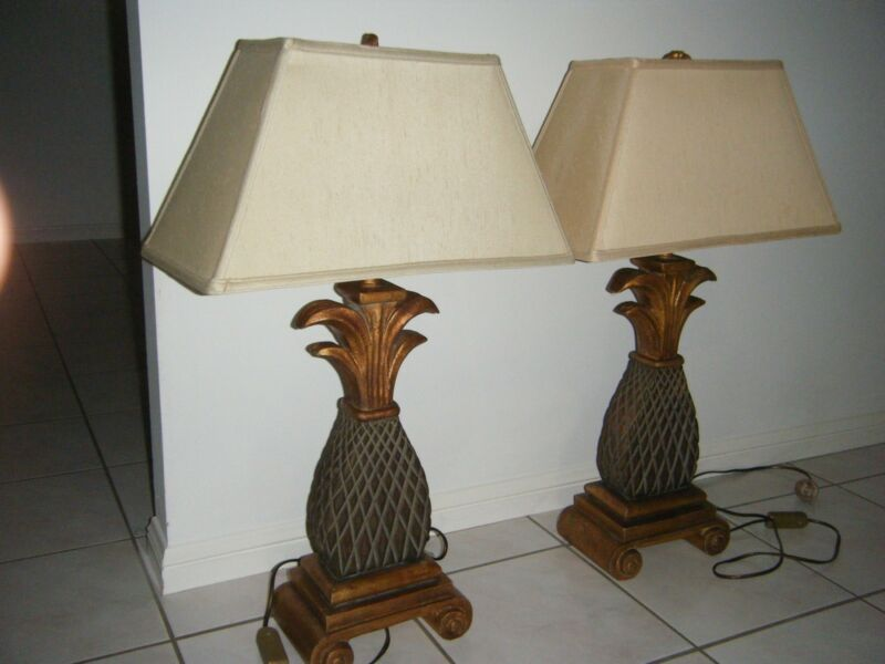 Sheraton table lamps table desk lamps gumtree australia gold sheraton table lamps southport gold coast city image 2 1 of 2 aloadofball