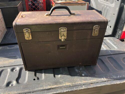 RARE Vintage Kennedy Starrett 7 Drawer Machinist Toolbox MUST SEE