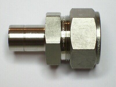 1 - Swagelok Stainless Tube Reducer Fitting 1 Tube X 34 Tube Ss-1610-r-12