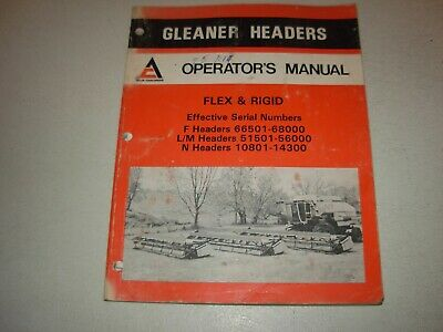 Gleaner F Lm N Headers Flex Rigid Operators Manual