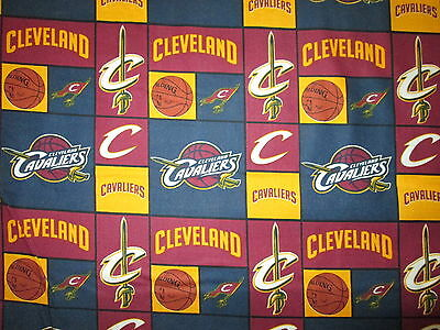 CLEVELAND CAVALIERS BLUE NBA LICENSED QUILTING COTTON FABRIC (Blue Fq Quilting Fabric)