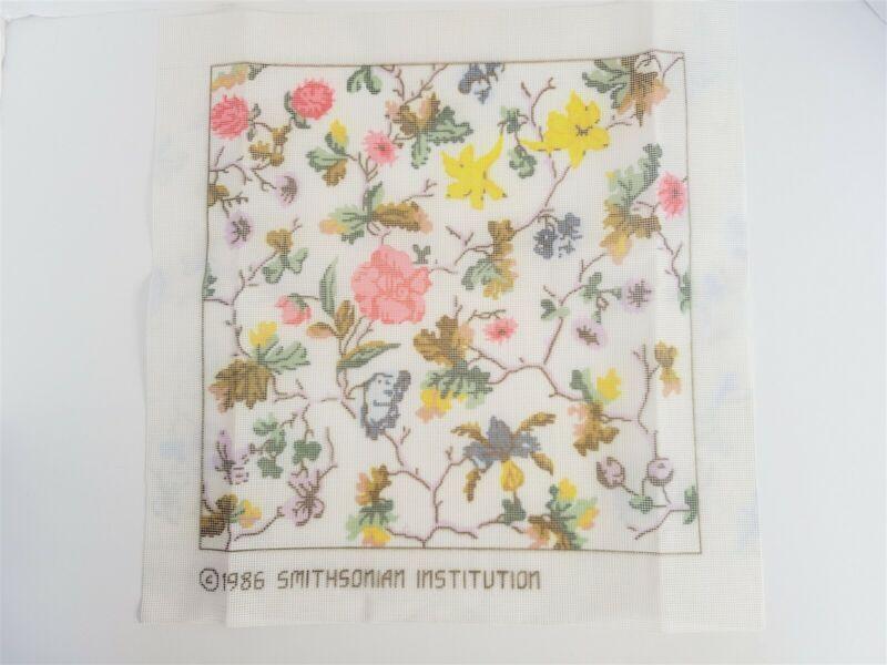 Smithsonian Flowers and Vines Needlepoint Kit Vintage 1986
