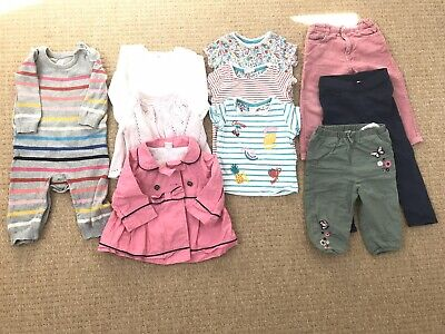 Baby girl clothes bundle 9-12 months 12 Items