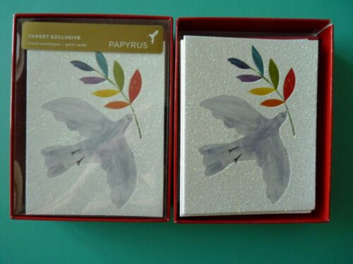 Papyrus Boxed Holiday Christmas Cards (Set of 24) White Dove - Peace To All...