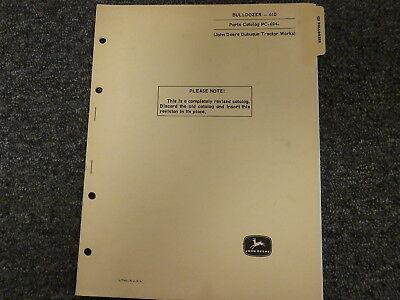 John Deere 610 Bulldozer Dozer Attachment Parts Catalog Manual Book Pc694