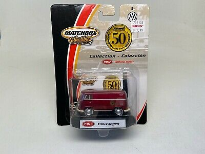 MATCHBOX-COLLECTIBLES-1967-VW VAN-RED-(96975) -50 YEAR-2001-SEALED