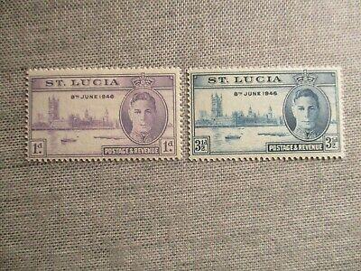 St. Lucia, Scott#127-128, MNH