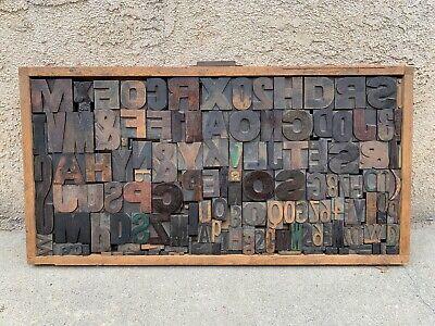 European Vintage Antique Letterpress Drawer Printers Large Wood Type Lot