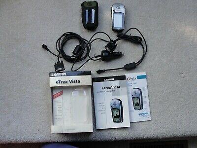 Garmin eTrex Vista  Personal Navigator GPS MINT Extras,hiking companion
