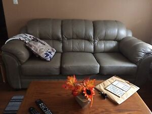 Like brand new leather couch with chair