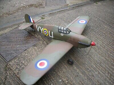 rc plane Hawker Hurricane 65 in wing span needs rx 1000 7.4 lipo to fly