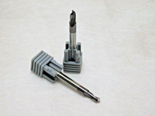 """Harvey Tool Carbide Miniature Spotting Drills 5/32"""" Cut Diam 2FL Qty 2 37510-C3"""