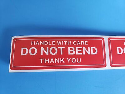 200 Pcs Of Do Not Bend With Handle With Care And Thank Mailing Labelsstickers