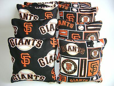 SAN FRANCISCO GIANTS CORNHOLE BEAN BAGS SET OF 8 TOP QUALITY TOSS GAME   San Francisco Giants Bean Bag